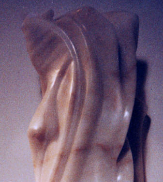 detail Sculpture en onyx rose 1992